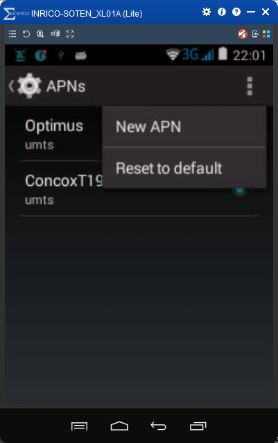How to change the APN Settings in the Inrico T199 and T192